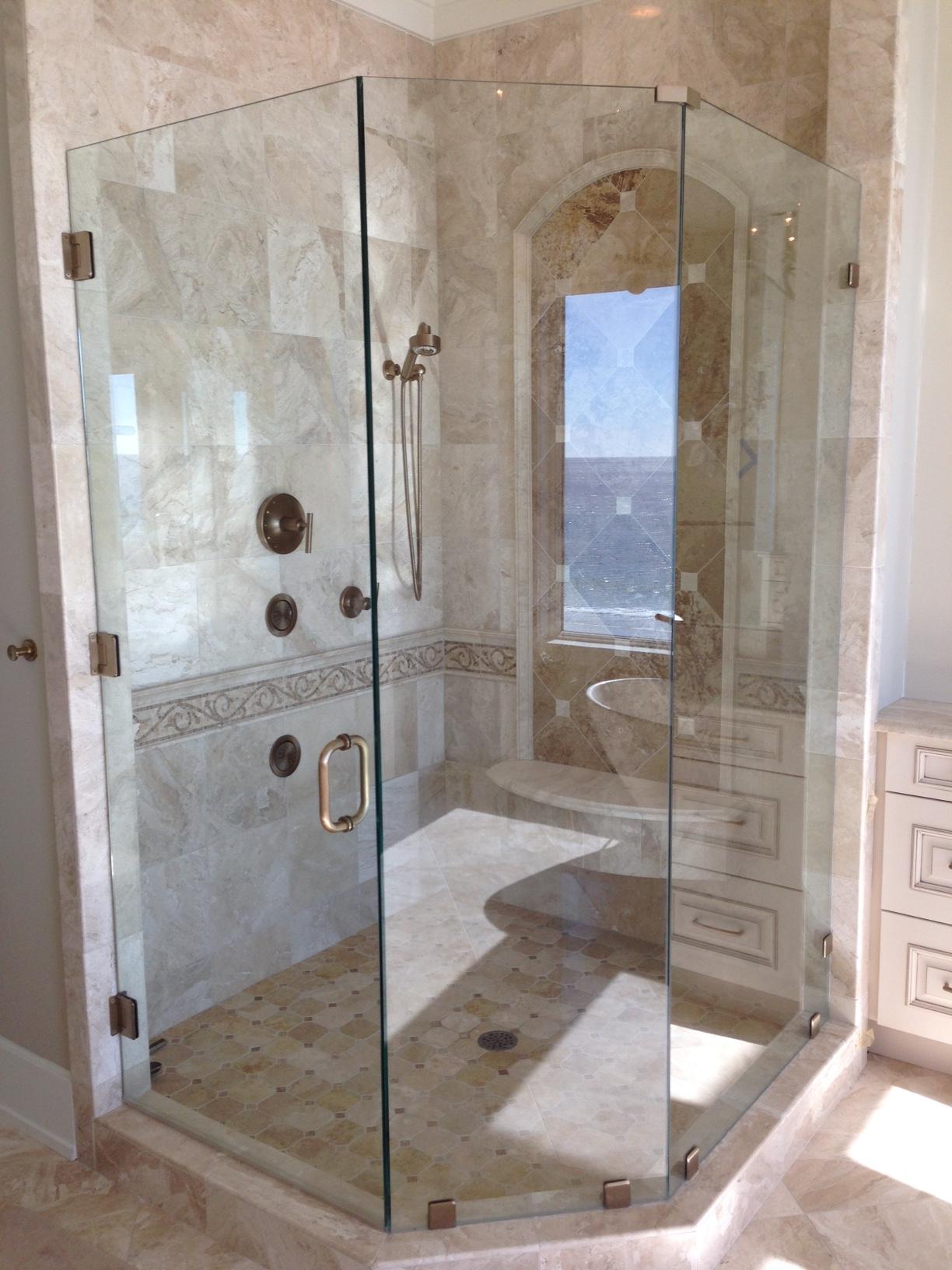 glass shower door and enclosure 30A area florida