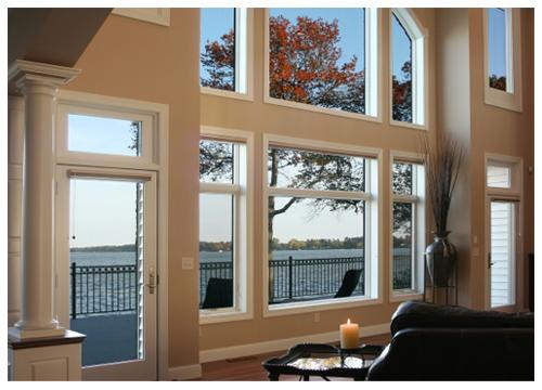 custom living room glass window Florida