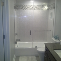 custom Eardley Tub glass shower enclosure