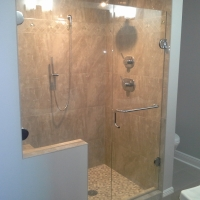 custom Eardley glass shower doors