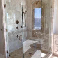 glass shower door and enclosure 30A area florida