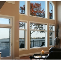 custom living room glass window Florida