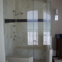 residential glass shower enclosure and glass services