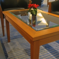 custom glass tabletop and glass installation