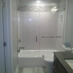 Destin home bathtub glass door enclosure